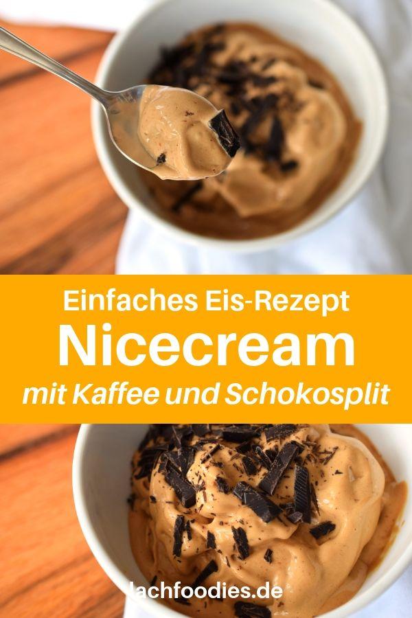 Hier findest du eines der einfachsten Eisrezepte ohne Eismaschine. Das Nicecream-Rezept wird auf Basis von gefrorenen Bananen zubereitet. Nicecream gesund, Nicecream Schoko, Nicecream Rezepte Banane, Nicecream Kaffee. Mein Lieblingsrezept besteht aus Banane, Schokolade und einem Schuss Kokosmilch. Eis selber machen ohne Eismaschine habe ich mir nicht so einfach vorgestellt. Lass es dir schmecken. #lachfoodies #gesunderezepte #vegan