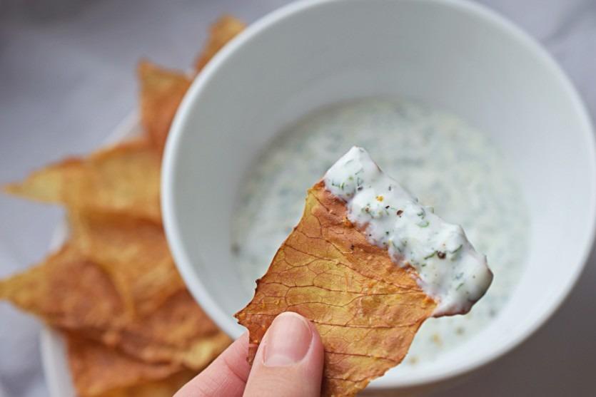 Weißkohlchips selbstgemacht