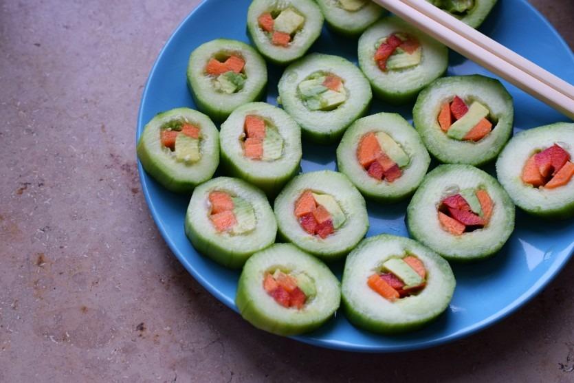 Gurken Sushi Rezept vegetarisch