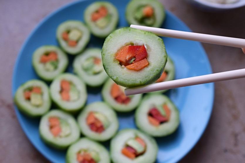 Gurken Sushi Rezept Low Carb